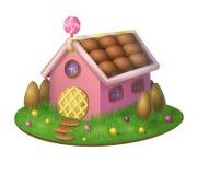 甜糖果房子 库存照片