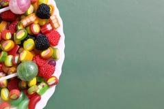 甜糖果软心豆粒糖颜色 库存照片