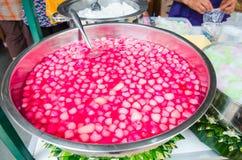 甜红宝石结构 库存图片