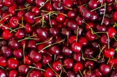 甜红色樱桃背景 库存照片