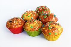 甜自创杯形蛋糕 免版税图库摄影