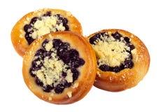 甜自创蛋糕用蓝莓 免版税库存照片