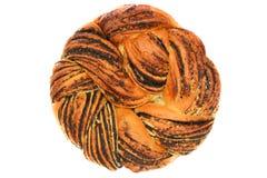 甜花圈面包被隔绝的图象 免版税库存图片