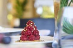 甜莓果馅饼 免版税库存照片