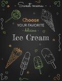 甜菜单冰淇凌 图库摄影