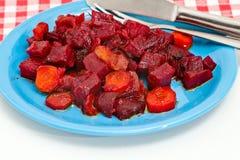 甜菜和红萝卜选矿  免版税库存图片