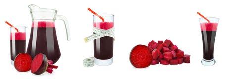 甜菜根汁和米 免版税库存照片