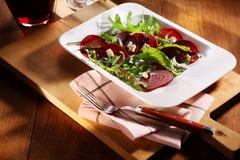 甜菜根沙拉鲜美秋天开胃菜  库存图片