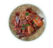 甜菜根羊肉咖喱 免版税图库摄影