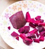甜菜根食物鲜美健康每日快餐吃 免版税图库摄影