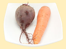 甜菜红萝卜牌照 免版税库存照片