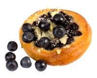 甜蛋糕用蓝莓 库存照片