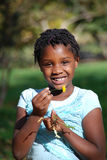 甜非洲女孩 库存照片