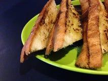 甜面包nutela和choco牛奶 库存图片