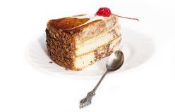 甜饼干用红色樱桃 免版税图库摄影