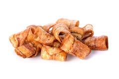 甜香蕉油炸马铃薯片,泰国快餐 图库摄影