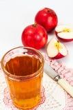 甜鲜美维生素苹果汁 免版税图库摄影