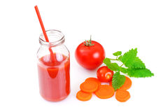 甜鲜美维生素西红柿汁 免版税图库摄影