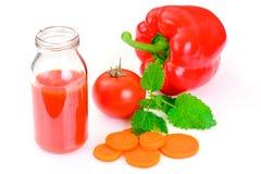 甜鲜美维生素西红柿汁 库存照片