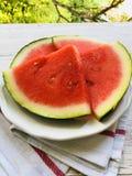 甜,新鲜的西瓜 免版税库存照片