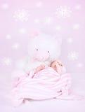 甜婴孩睡眠 图库摄影