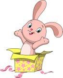 甜滑稽的兔宝宝 向量例证