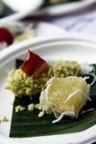 甜casava和绿豆米绉纱 免版税库存图片