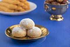 甜Eid El Fitr曲奇饼,回教一点假日传统甜点 库存图片