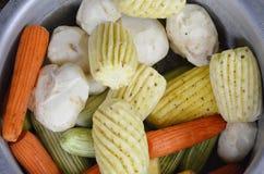 甜Jicama菜白色背景 免版税图库摄影