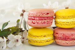 甜Macarons 免版税库存照片