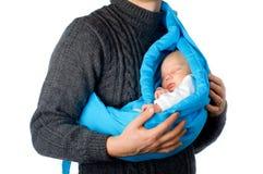 有小婴孩的父亲 免版税库存照片