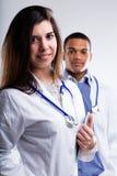 医生二个年轻人 免版税库存图片