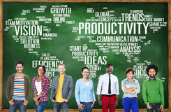 生产力使命战略企业世界展望会概念 免版税图库摄影
