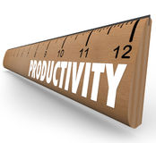 生产力测量的统治者工作效率教育Learni 库存照片