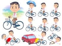 生产商中间men_city自行车 皇族释放例证