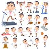 生产商中间men_Sports &锻炼 向量例证