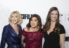 生产商和Arrive主任为第17 Tribeca电影节开放夜 免版税库存图片