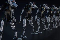 生产机器人- 3D例证 向量例证
