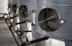 生产李子白兰地酒 库存照片