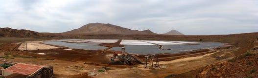 生产盐 库存图片