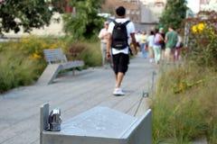生产线上限。纽约。高的步行公园 库存照片
