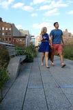 生产线上限。纽约城。高的步行公园 库存照片