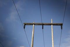 生产线上限关闭电压 免版税库存照片