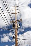 生产线上限电压 免版税图库摄影