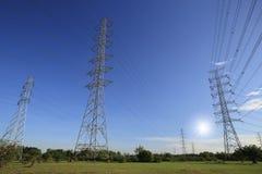 生产线上限电压 免版税库存照片