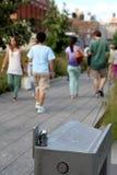 生产线上限 城市纽约 高的步行公园 库存图片