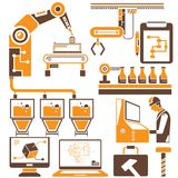 生产线和制造过程 库存例证