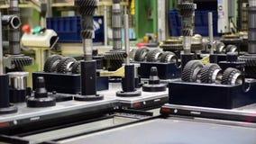 生产线汽车手工齿轮零件 股票视频