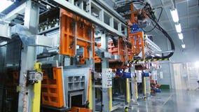 生产线用设备和控制板在商店 影视素材