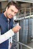 生产者酒年轻人 免版税库存图片